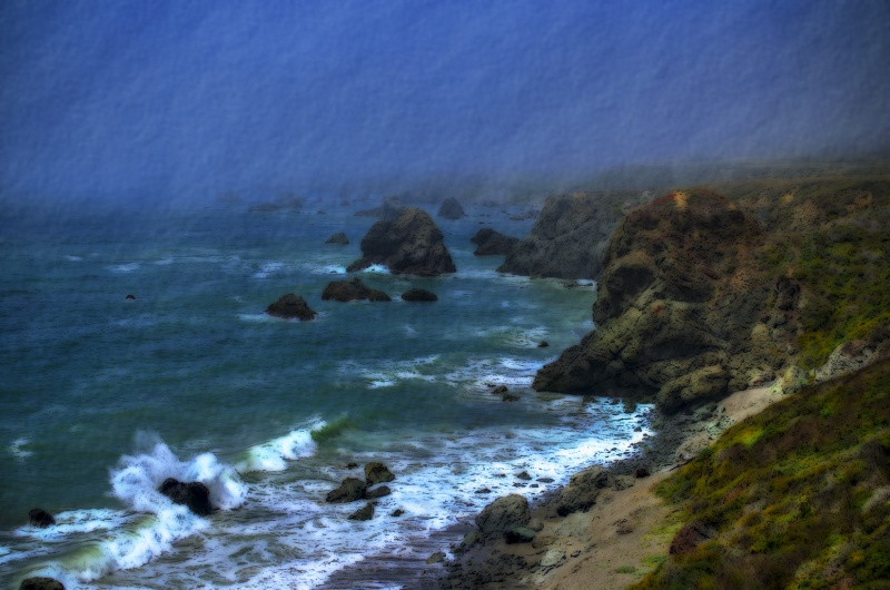 foggy coast