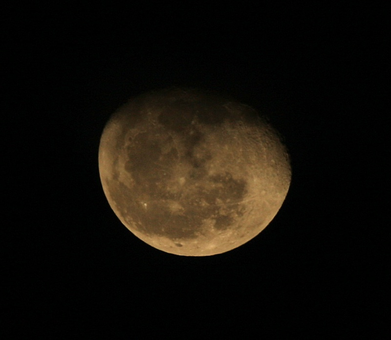 Moon, New Years Eve 2012