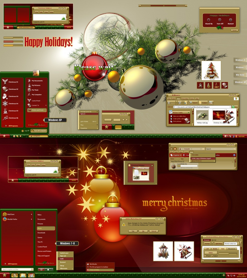 Christmas Holidays Gold Theme