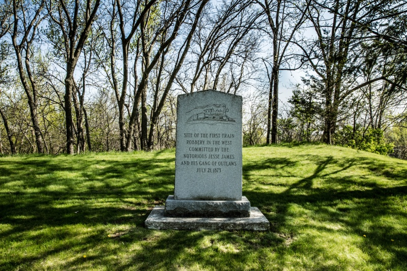 Jesse James Train Robbery Memorial, Adair Iowa