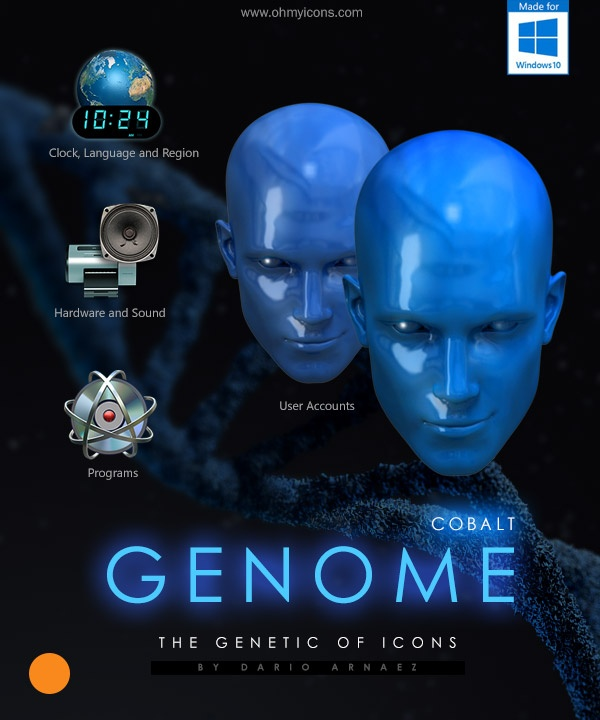 GENOME - Cobalt - Windows 10 Icons