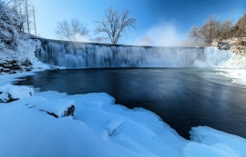 Root River Falls in Winter