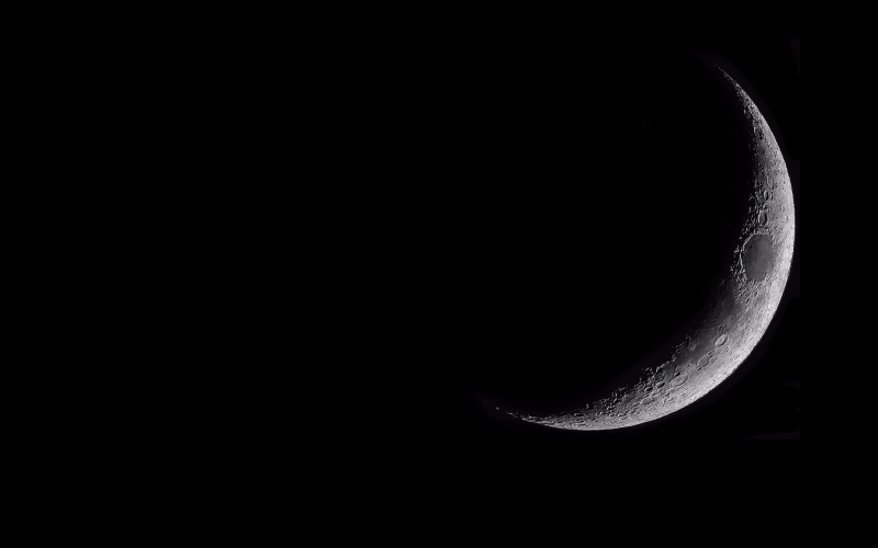 Waxing Crescent Moon Wallpaper 1920 X 1200