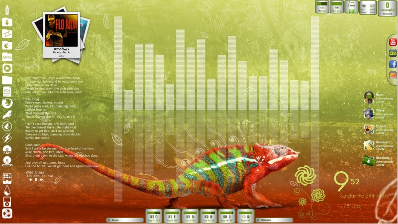 Chameleon Desktop for Rainmeter