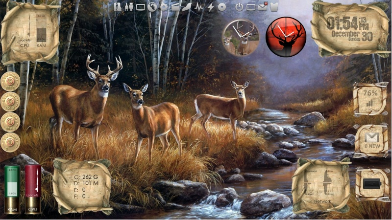 Outdoor Living - Deer - Desktop for Rainmeter v1.1