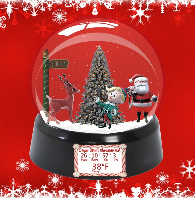 Christmas Snow Globes for Rainmeter