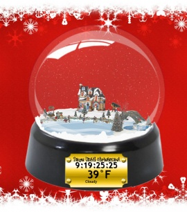 Family Christmas Snow Globe