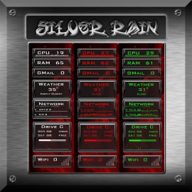 Silver Rain for Rainmeter