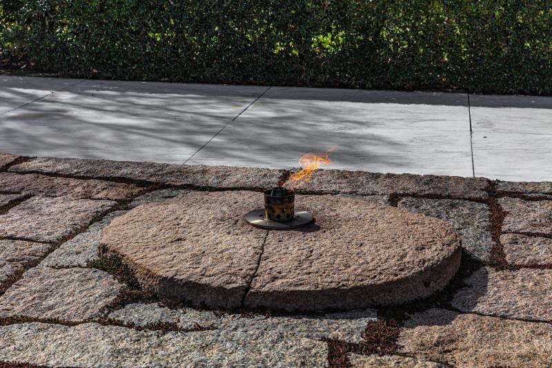 John F. Kennedy Gravesite - Eternal Flame