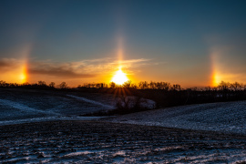 Sundogs at Sunrise, December 24, 2020